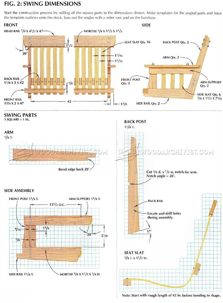 223 best plans images on pinterest woodworking plans for Woodworking plans porch swing