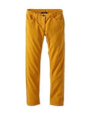 55% OFF Monnalisa Girl's Velvet Jeans (Yellow Pumpkin)