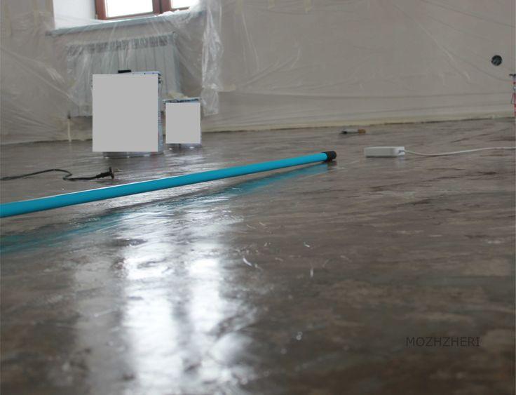 Белый декоративный полимерный наливной пол