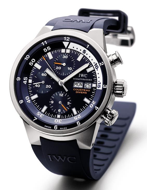 """Dieses und weitere Luxusprodukte finden Sie auf der Webseite von Lusea.de  The Watch Quote: IWC Aquatimer Chronograph """"Cousteau Diver"""