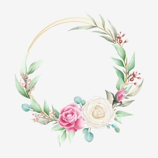 Elegant Floral Frame For Wedding Composition Floral Clipart Invitation Invite Png And Vector With Transparent Background For Free Download Flower Pattern Drawing Floral Border Design Floral Poster