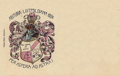 Absolvia Luitpoldiana (Luitpold-Gymnasium) München 1904