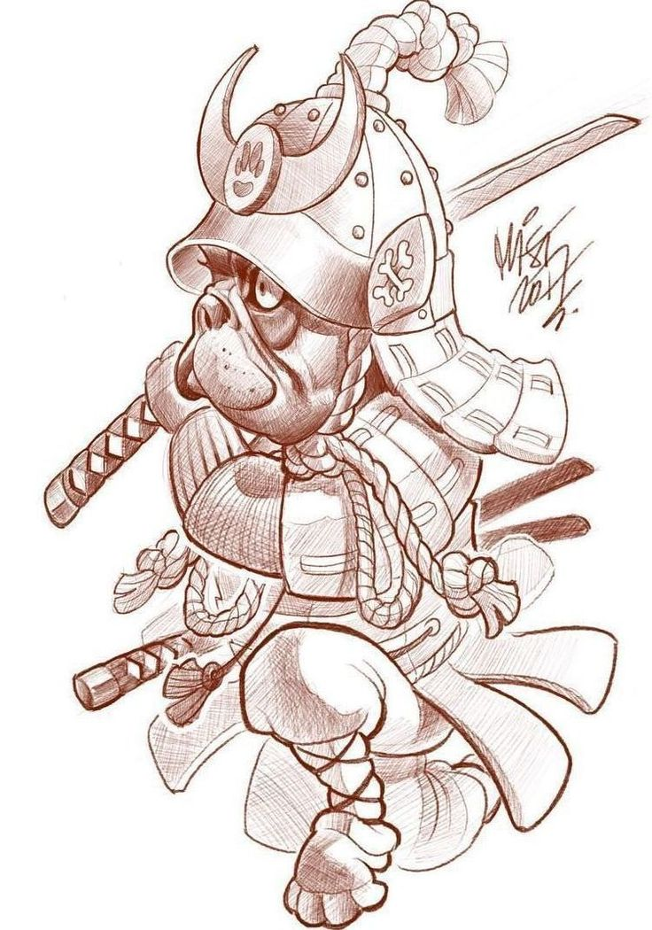 Samurai tattoo design.