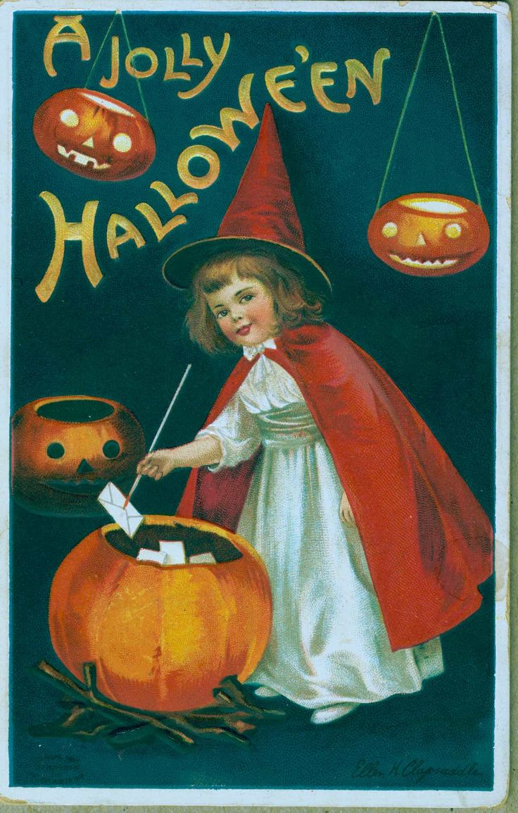 Small Crop Of Vintage Halloween Cards