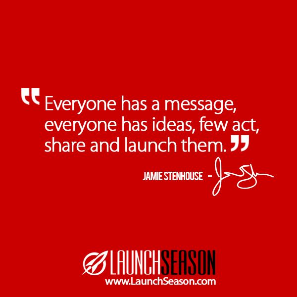 """Taken from my video series """"Launch Season"""". Watch it for free at http://launchseason.com/"""