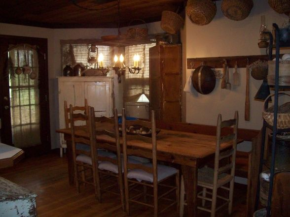 104 Best Primitive Dining Room Images On Pinterest  Kitchen Entrancing Primitive Dining Room Sets 2018