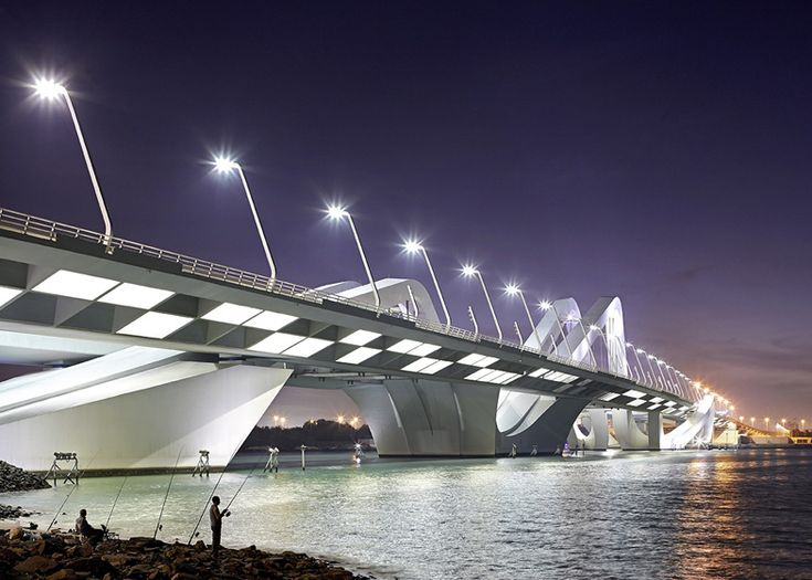 Sheikh Zayed Bridge by Zaha Hadid photographed by Hufton + Crow
