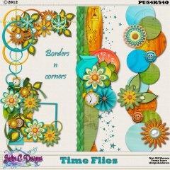 Time Flies Borders n Corners