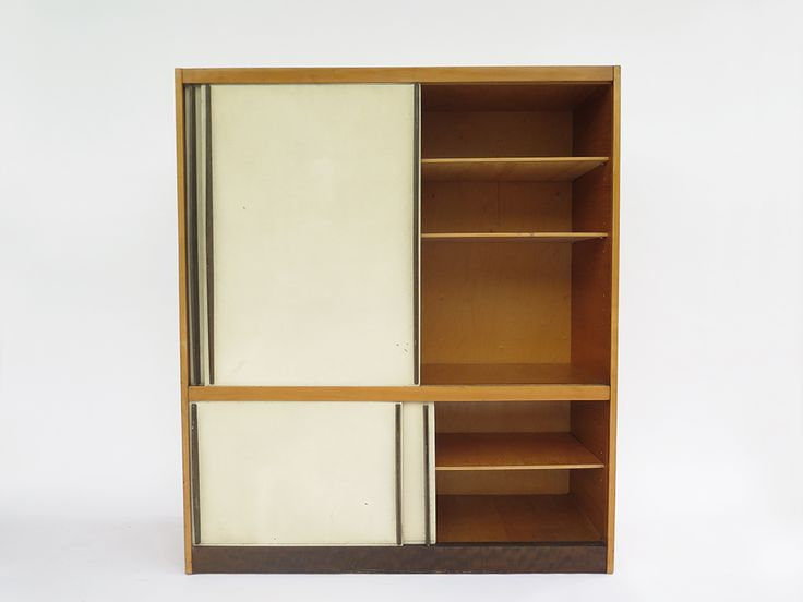 Cabinet   	  	Designer : 	Hans Bellmann   	  	Manufacture : 	Wohnbedarf Message* : 		 Description : 	  Nice cabinet designed by Hans Bellmann in the 50s. Good original condition. Length : 120cm Height : 140cm Depht : 45cm