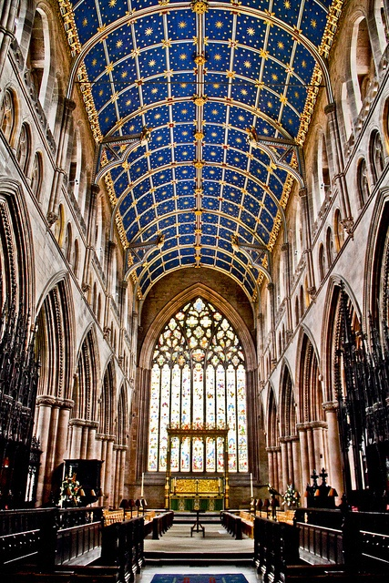 inside Carlise Cathedral.  Located in  Carlisle, Cumbria, England, UK