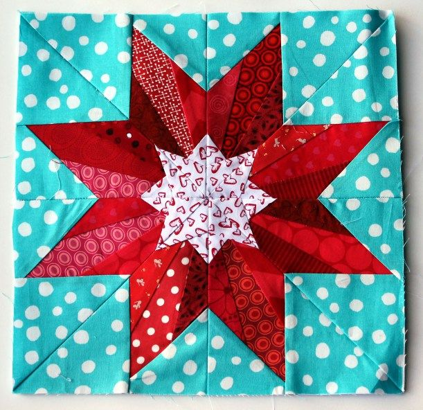 paper pieced star block - personally, I despise paper piecing, but this is an awesome block that would be a serious pain to piece otherwise!