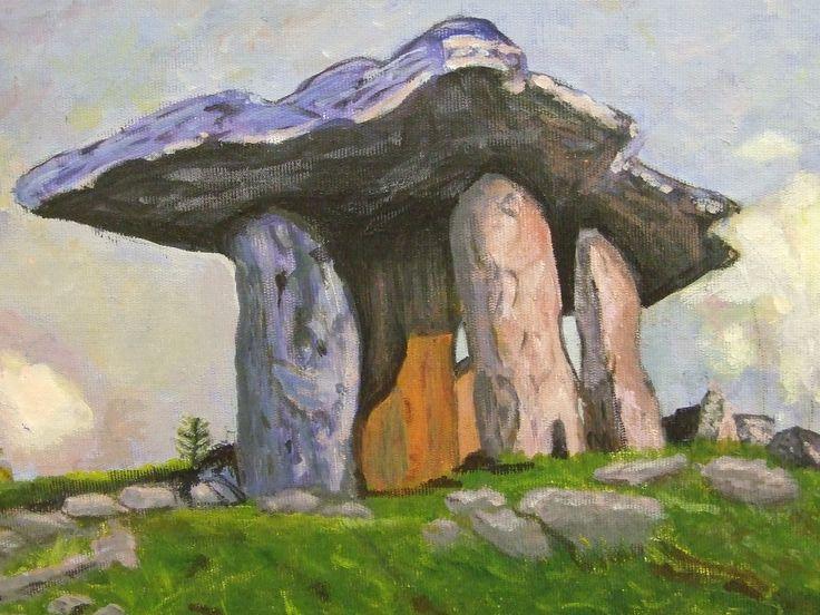 Artist Annette Reddan, Dublin Ireland. ' West of Ireland Dolmen'. Price 300.00 euro