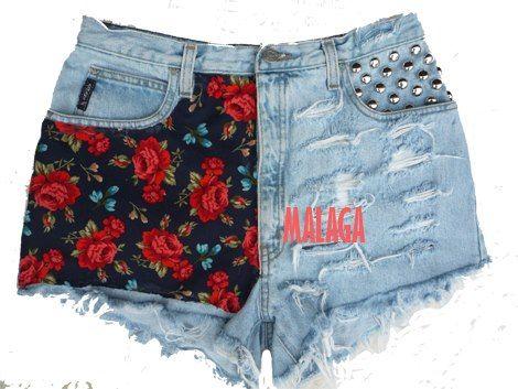 Short jean con tachas