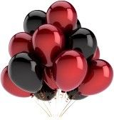 red black and white decorations for a party - Google Search