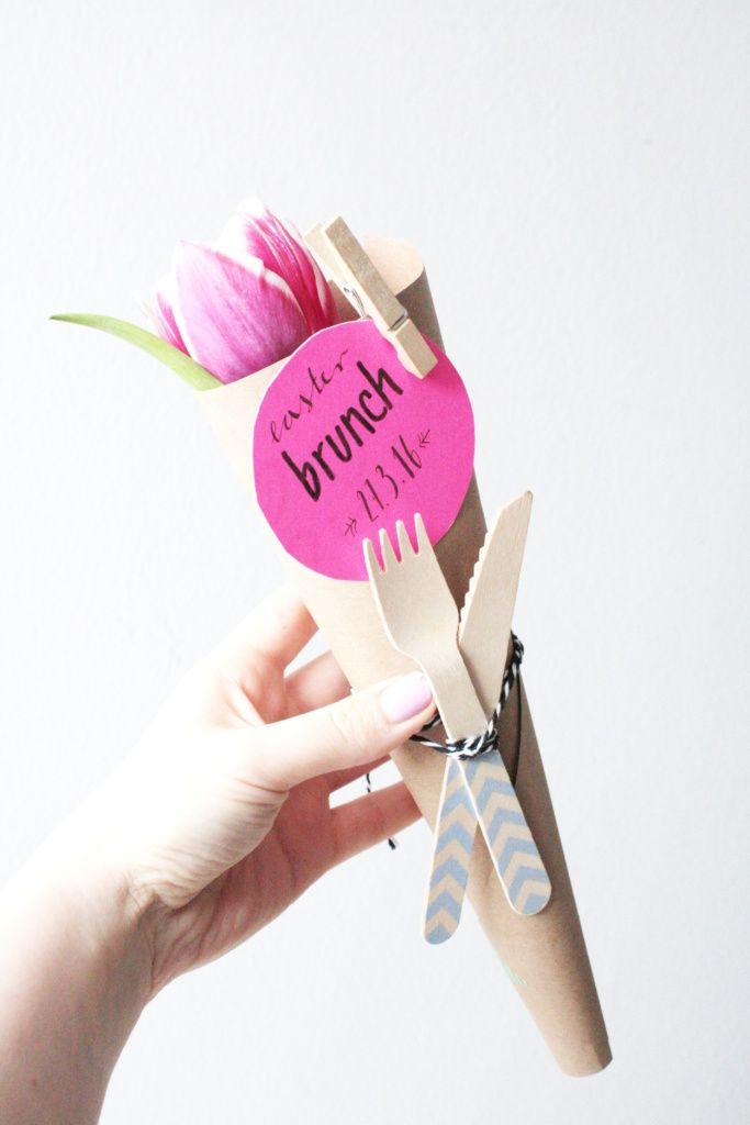 DIY Ostern: Brunch Einladung basteln