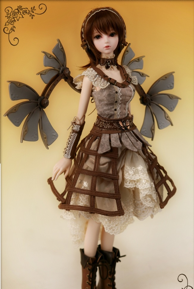 Rosette steampunk doll. Cute costume idea for Miss B