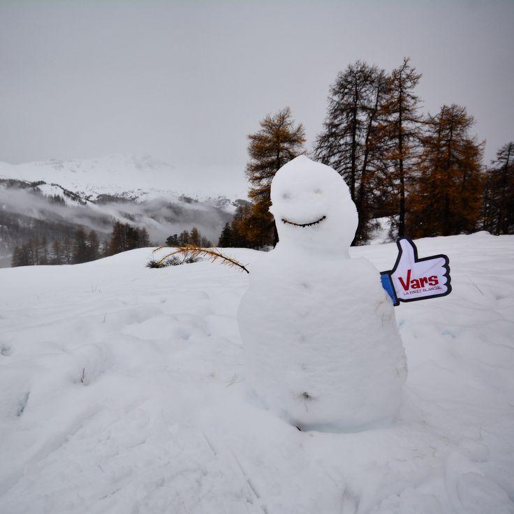 Un temps à sortir son bonhomme de neige... :-) #Vars #VarsFob #MyHautesAlpes…