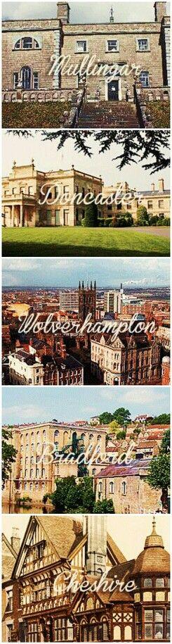 Mullingar, Doncaster, Wolverhampton, Bradford, Cheshire.