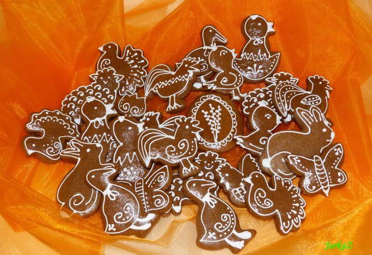 Easter gingerbread - veľkonočné medovníčky - jednoducho zdobené