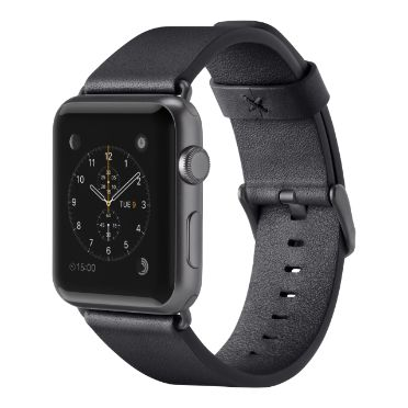 Classic Leather Band for Apple Watch 38mm - Black -  HeroImage