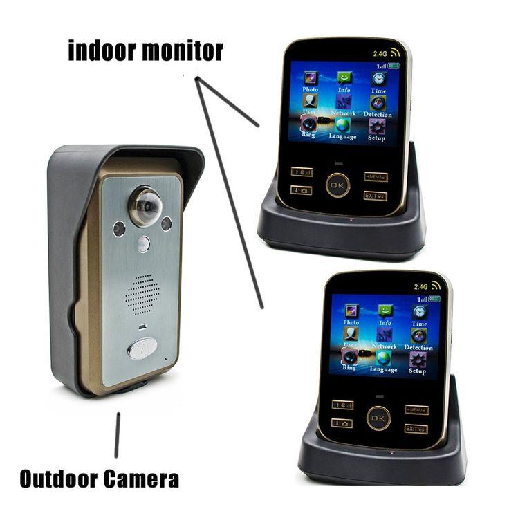 209.00$  Watch now - http://alimm9.worldwells.pw/go.php?t=32600283293 - Wifi Video Door Phone 1v2 Draadloze Deurbel Met Videocamera Wireless Door Intercom Door Wifi Camera 2.4G Sonnette 209.00$