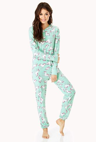 Unicorn Dreams PJ Onesie | FOREVER21 - 2031558029..... I couldn't pass this up had to order it!!