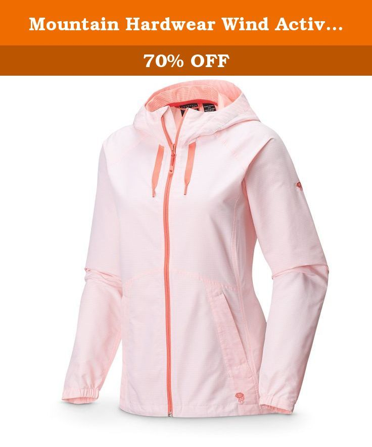 Mountain Hardwear Wind Activa Jacket - Women's Coralescent X-Large. From the trails to the pavement, yoga studio to the coffee shop, this jacket is the ultimate soft-shell. Wind-resistant, breathable, flattering and stylish, you'll be ready to take the world by storm.