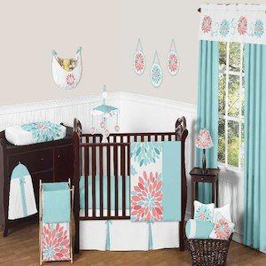 Sweet Jojo Designs Emma 11 Piece Baby Crib Bedding Set
