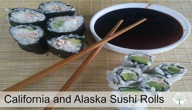 California and Alaska Sushi Rolls