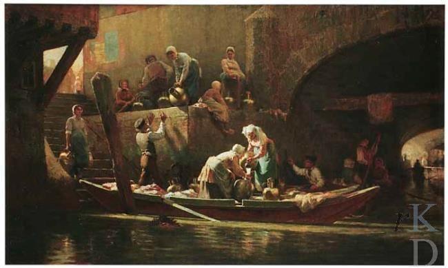 Charles Yardley Turner Groot kanaal, Dordrecht 1881 #ZuidHolland #Dordrecht