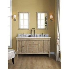 Gallery Website Fairmont VD Rustic Chic Inch Double Bowl Vanity in Weathered Oak