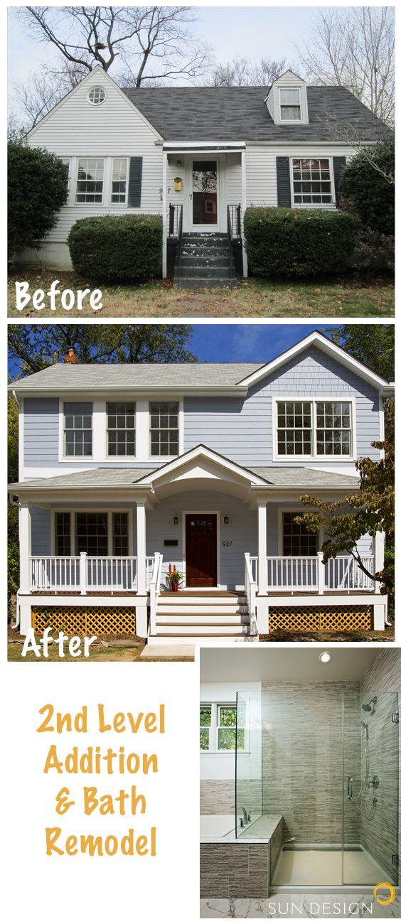 Best 25 second story ideas on pinterest second story for Second floor addition before and after