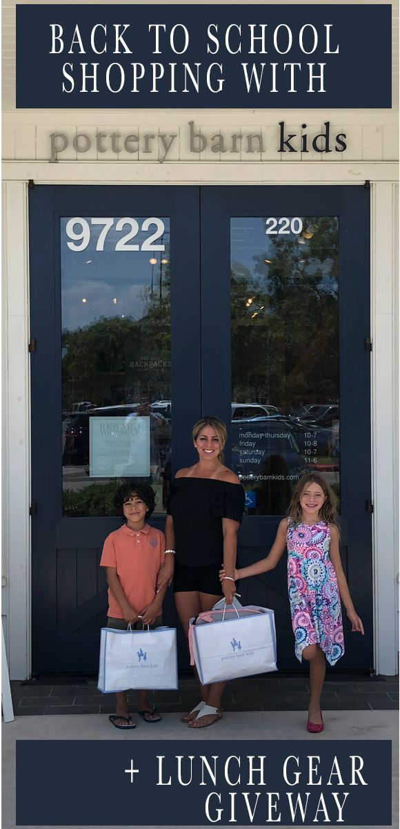 Back To School Shopping At Pottery Barn Kids Back To School