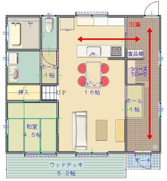 【間取り例】妻も喜ぶ家事導線の良い通り土間の事例 | 家好きパパの新築ブログ