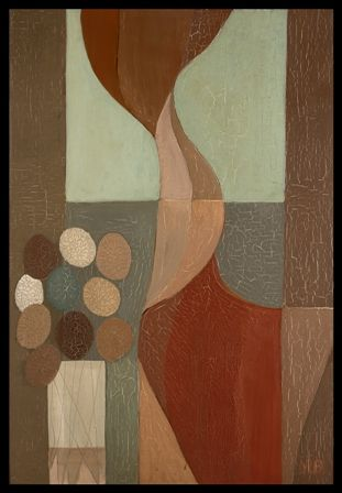 Blowing Curtain | Oil on Board | 23 x 33 inches | £4,950 | From 1963