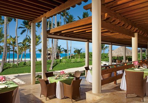 The Seaside Grill Terrace is situated just off the beach