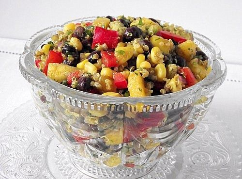 Southwestern Black Bean, Quinoa and Mango Medley adapted from Cathy ...