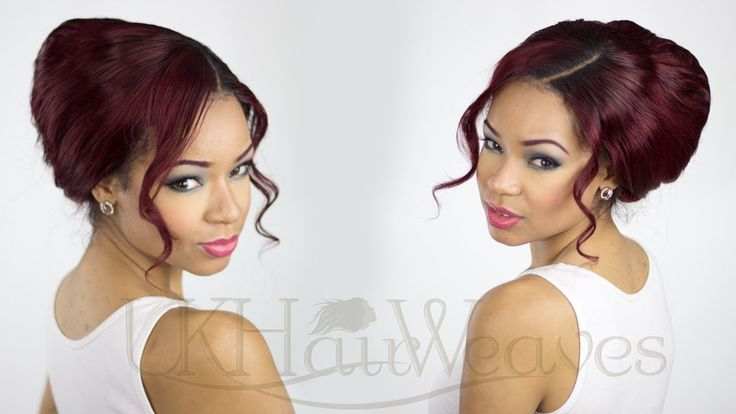 How to achieve an up do with lace closure weave