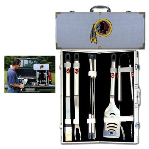 Washington Redskins Nfl 8Pc Bbq Tools Set by Siskiyou. $91.95. Brand New. Our NFL 8 pc BBQ set includes a spatula with knife edge; grill fork; tongs; basting brush and 4 skewers. The tools are approximately 19 long and have sturdy stainless steel handles. The aluminum carrying case features a metal carved emblem with enameled finish.