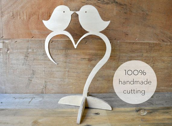 Love birds sharing their love on a heart! Υou can decorate your table at home or table of your wedding!  Feel free to tell us what you want to cut it for you in any size, thickness and shape you want!