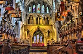 St. Patrick's Cathedral in Dublin, Ireland...attended service here