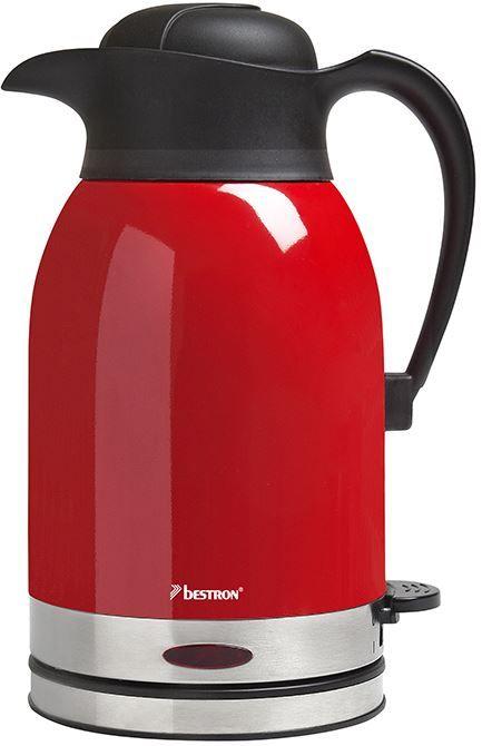 Bestron ATW1600  Bestron ATW1600: Waterkoker met RVS serveerkan Liefhebber van thee of andere hete dranken? Deze Bestron ATW1600 heeft een ingenieus dubbelwandige serveerkan van 15 liter!Dankzij het dubbelwandige RVS blijft het gekookte water meerdere uren warm en maak jij heel snel dat volgende kopje thee.Je hoeft het water niet nog een keer te koken zo bespaar jij energie met de Bestron ATW1600! Waterkoker 1600W 15 L RVS thermosserveerkan Droogkookbeveiliging  Overhittingsbeveiliging 360…