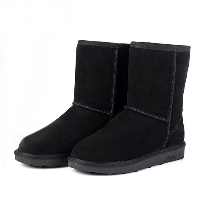 Unisex Snow Boots 2014 New Fashion Australia Classic Short winter boots Women Men Warm Suede Fur Lined Flat Boots botas mujer