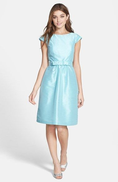 Alfred Sung Woven Fit & Flare Dress available at #Nordstrom  Like this style, but color is too dark.