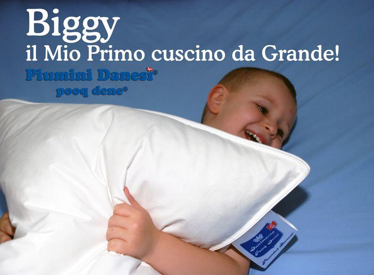 """Cuscino Biggy Il mio primo cuscino da grande!!! Quando i bambini passano dal lettino al loro primo letto grande, si sentono orgogliosi e """"Biggy"""" :-)"""
