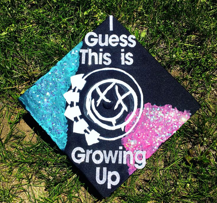 my blink-182 cap for college graduation!!