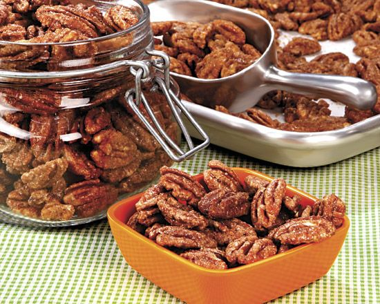 Spiced Pecans - Recipes at Penzeys Spices. I made these this year, they were delicious. Will definitely make again!