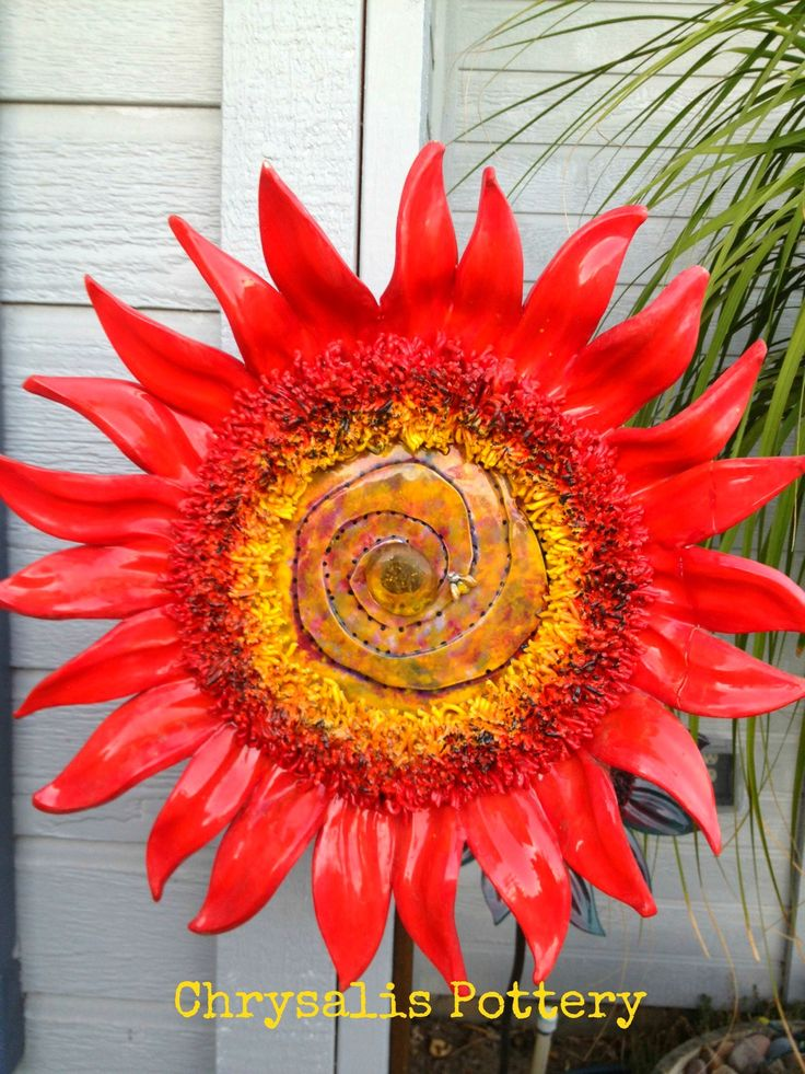 """Sun Fire"" Sunflowers by Chrysalis Pottery www.facebook.com/BarbJohnson.pottery"