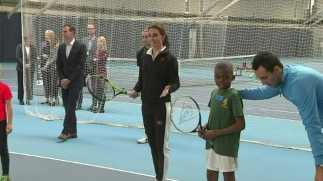 It was the first solo engagement for the Duchess of Cambridge, who's patron of the Lawn Tennis Association, since severe morning sickness forced her to take a break from public duties.