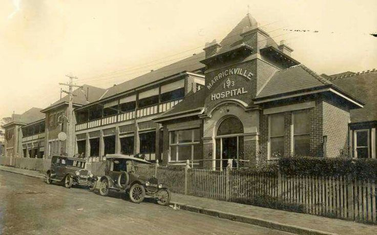 Marrickville Hospital,Marrickville in the inner west of Sydney (year unknown).